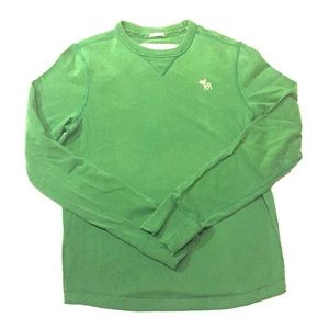 Abercrombie Athletic-Fit Muscle Sweater  Green jb2